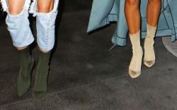 Kendall Jenenr Hailey Baldwin Yeezy Season