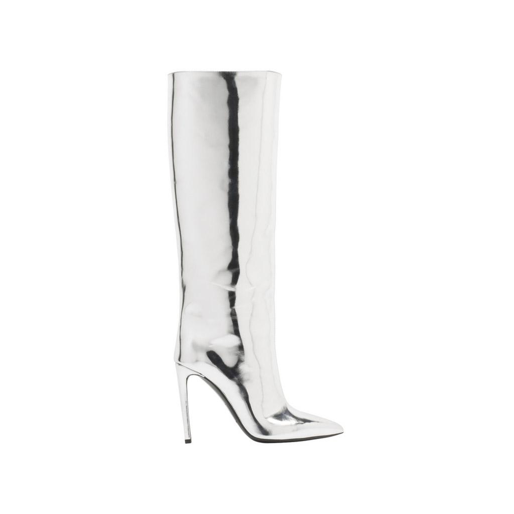 rihanna balenciaga All Time Mirror Effect boots