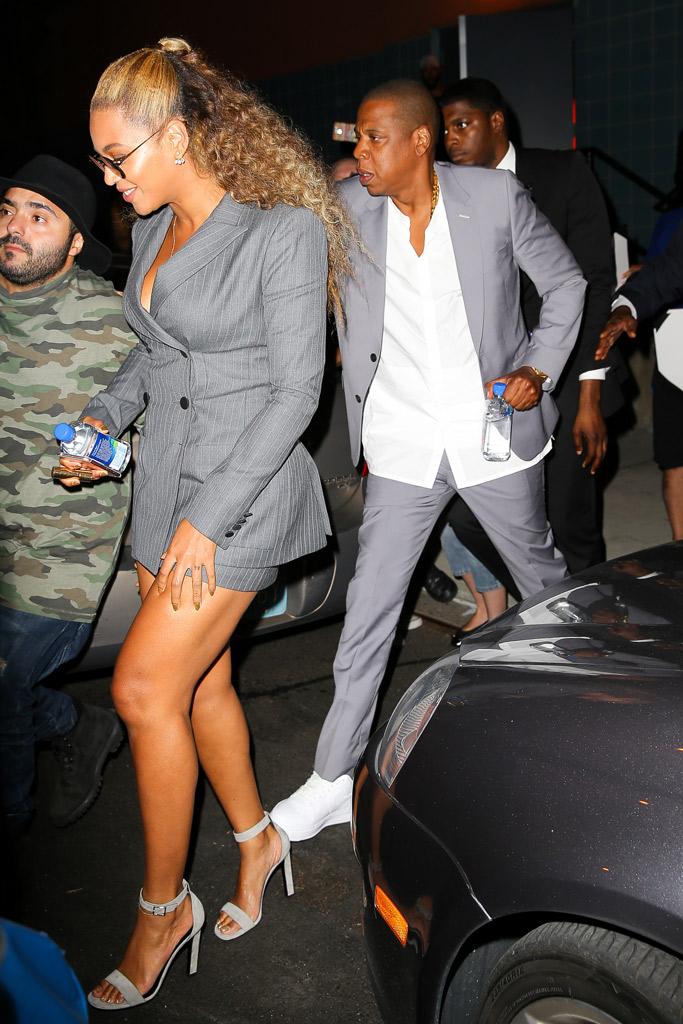 Beyoncé Hands of Stone Premiere Saint Laurent Sandals