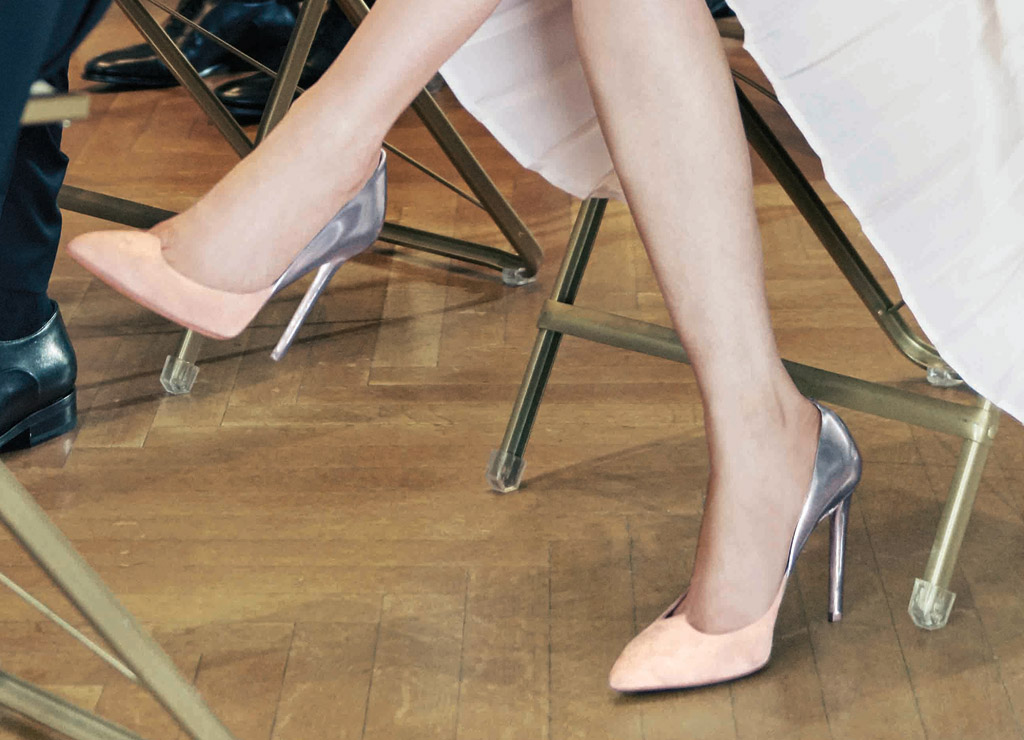 Lucy Liu's Antonia 105 pumps retail for $495.