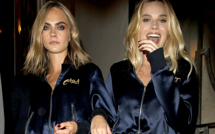 Margot Robbie Cara Delevingne Step Out In Matching Sneakers
