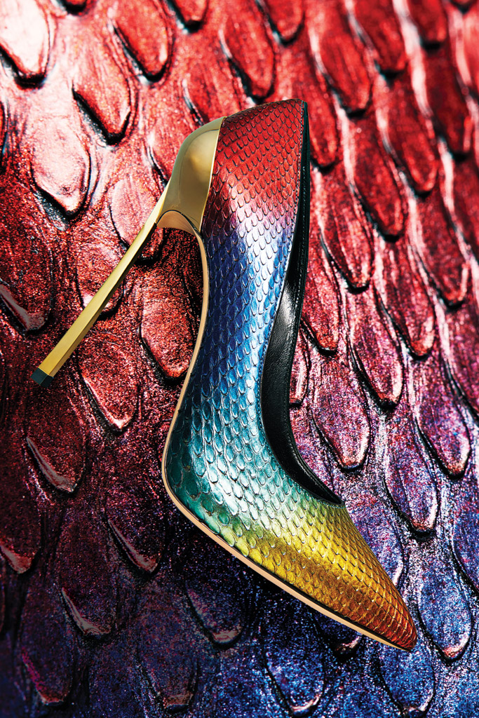 Casadei Rainbow Python Pumps