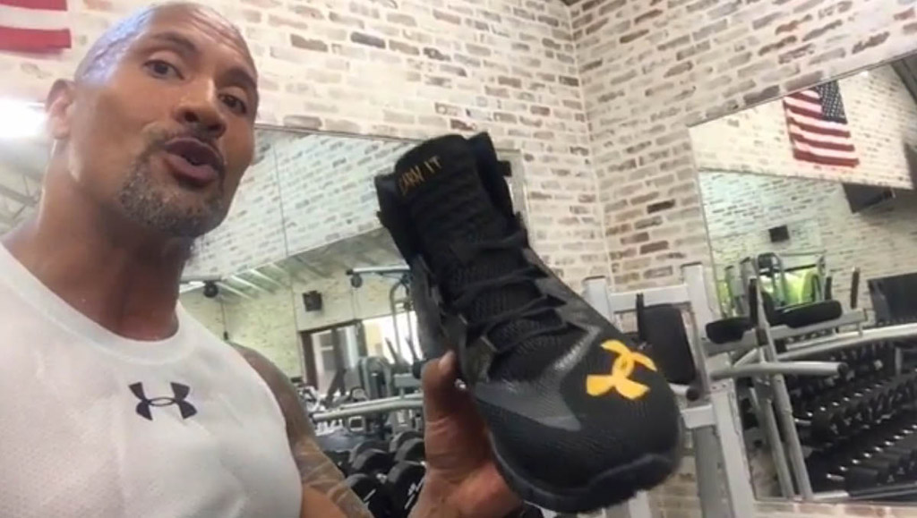 dwayne johnson the rock under armour sneakers