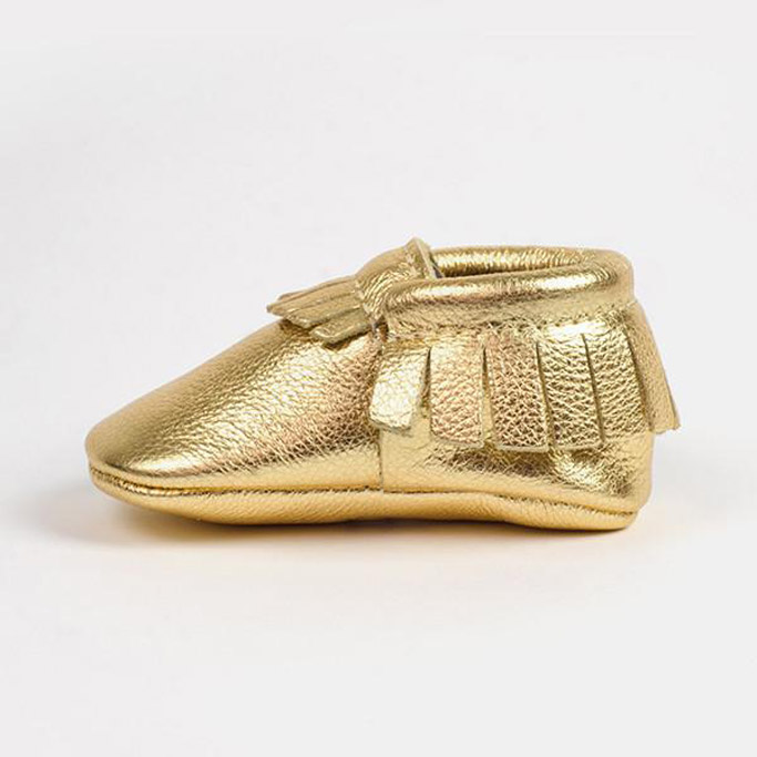 freshly picked baby shoes moccasins gold shark tank
