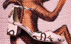 Giannico Monkey Print Shoes