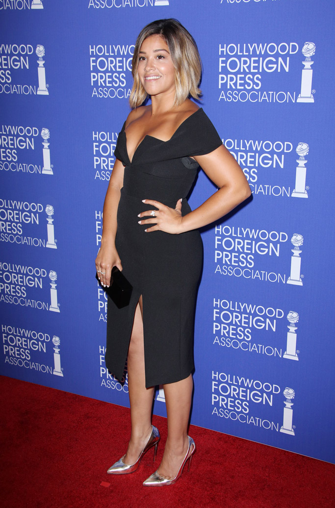 Gina Rodriguez Celebrity Statement Shoes August 2016