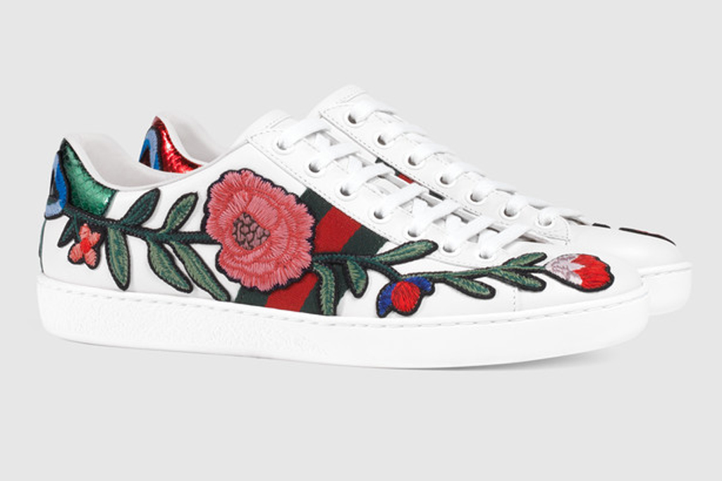 Taylor Swift Gucci Floral Sneakers