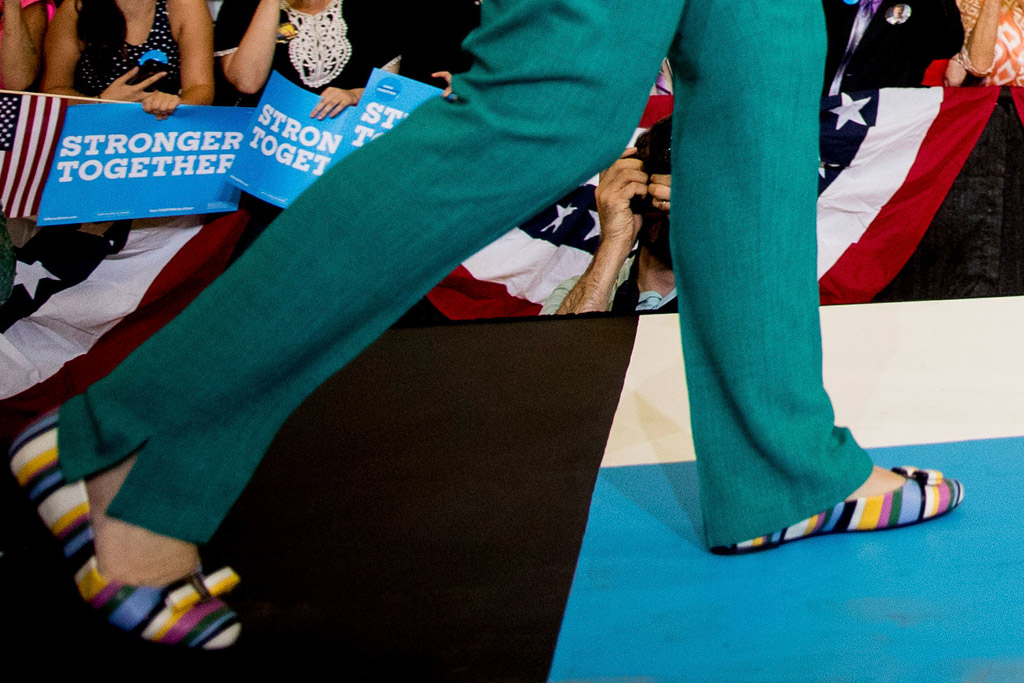 Hillary Clinton Ferragamo Flats Des Moines Iowa