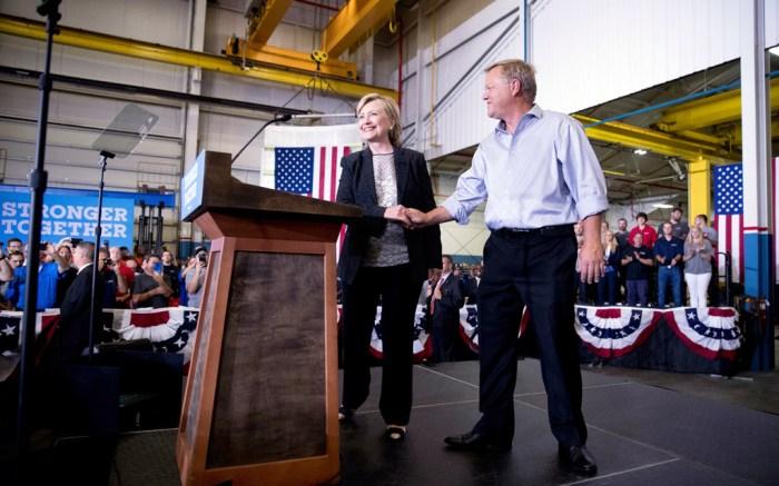 Hillary Clinton Warren Michigan Rally Miu Miu Pumps
