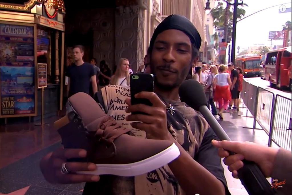 Jimmy Kimmel LIve Adidas Yeezy Kanye West Fake