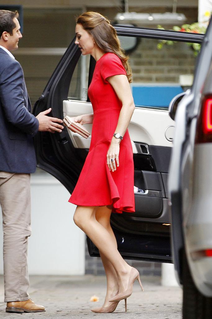 Kate Middleton L.K. Bennett Dress Gianvito Rossi Pumps