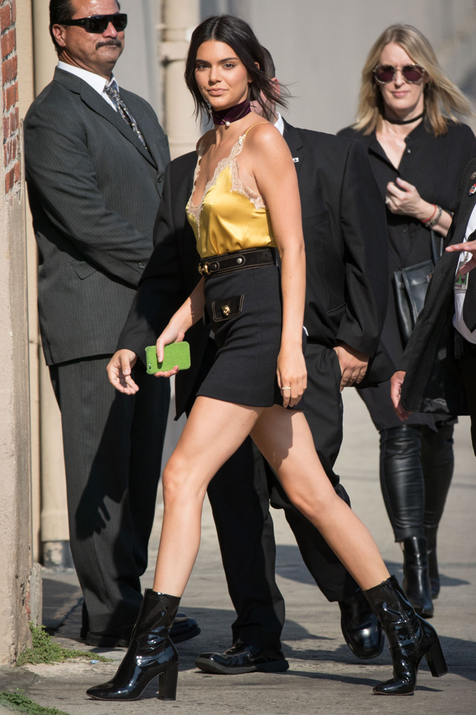 Kendall Jenner Jimmy Kimmel Live Kenneth Cole Boots