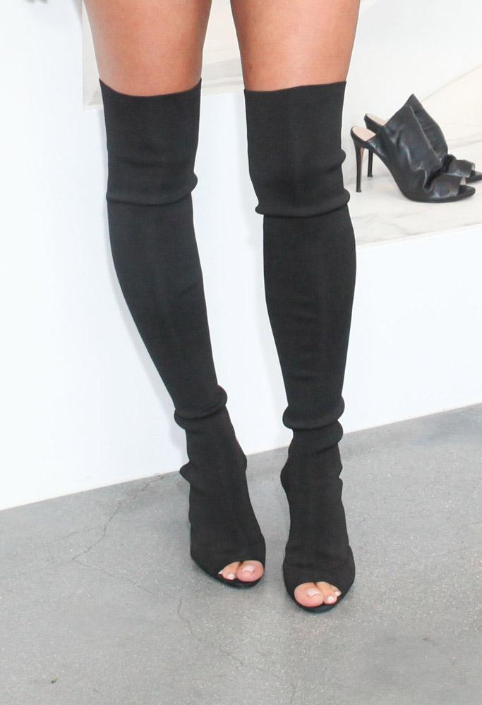 kim kardashian yeezy boots revolve social club