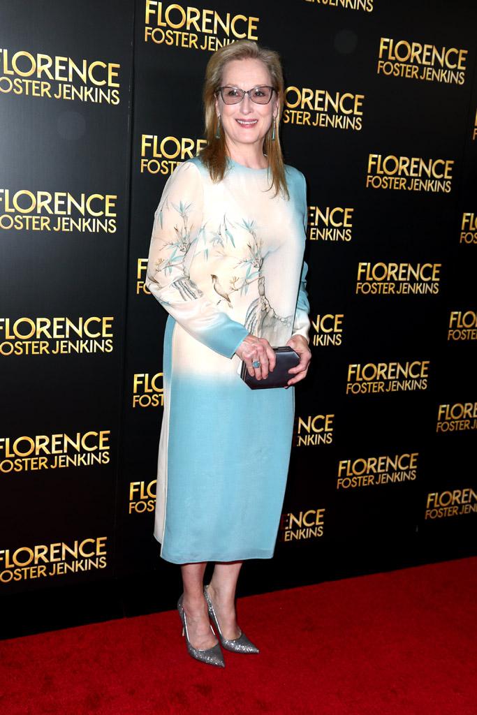 Meryl Streep Celebrity Statement Shoes August 2016
