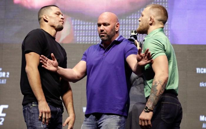 Nate Diaz Conor McGregor Dana White UFC 202
