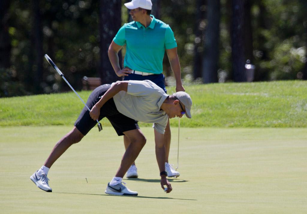 president barack obama nike sneakers vacation martha vineyard