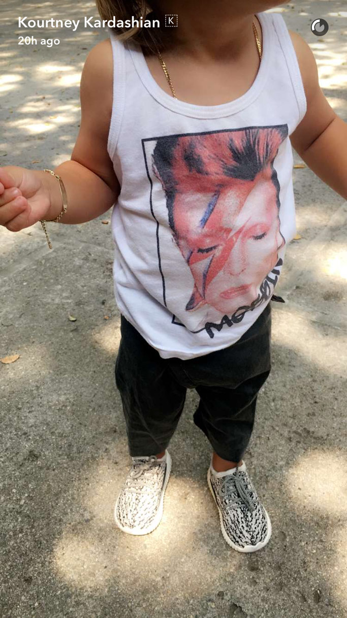 Reign Disick Kourtney Kardashian Baby Yeezy Boost 350s