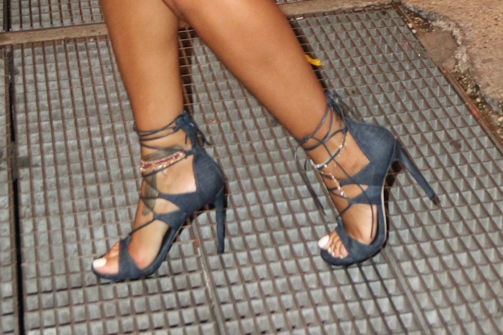 Rihanna lace up sandal
