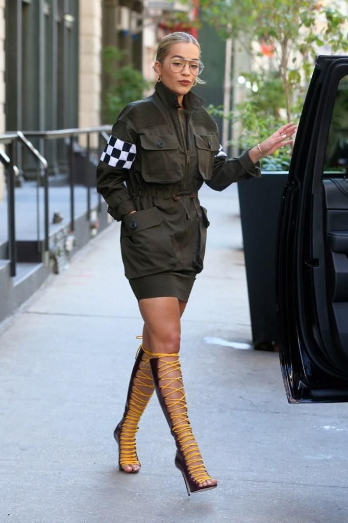 Rita Ora Celebrity Statement Shoes August 2016