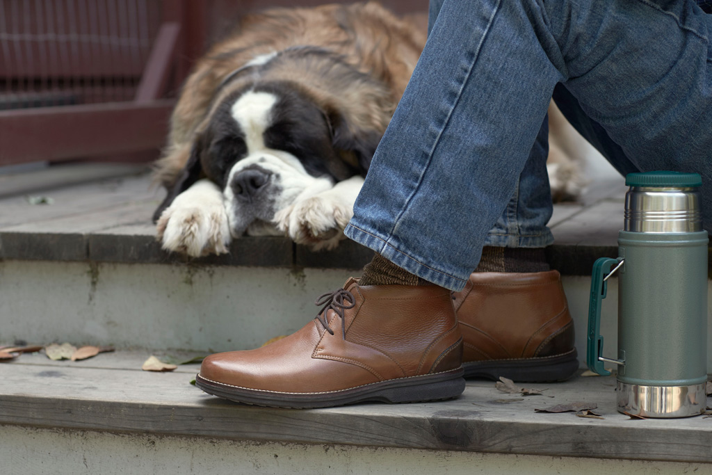 """Men's fall '16 Rockport style featured in """"Made for Movers"""" campaign."""