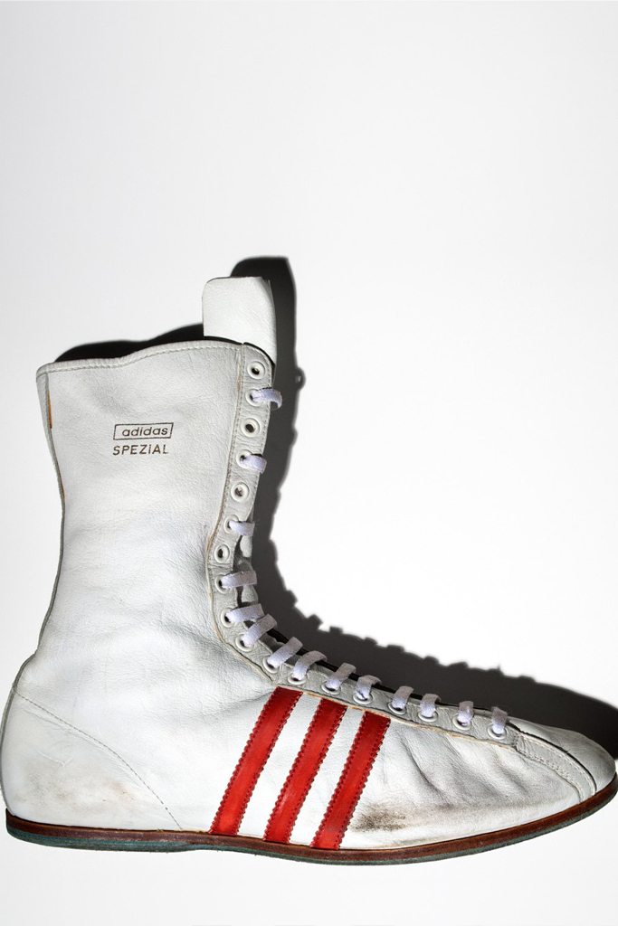 Adidas Spezial boxing shoes worn by Muhammad Ali.