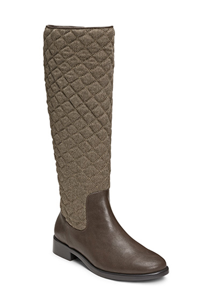 aerosoles establish quilted wide calf boots