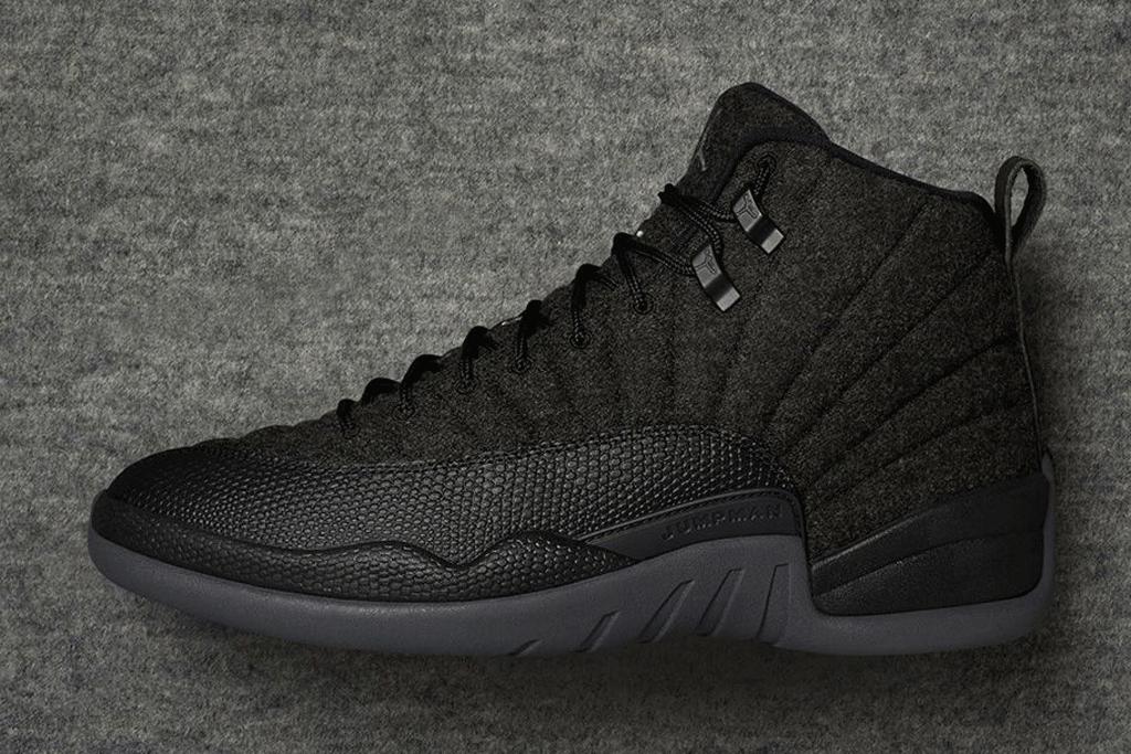 Air Jordan 12 Retro Wool Dark Grey Black
