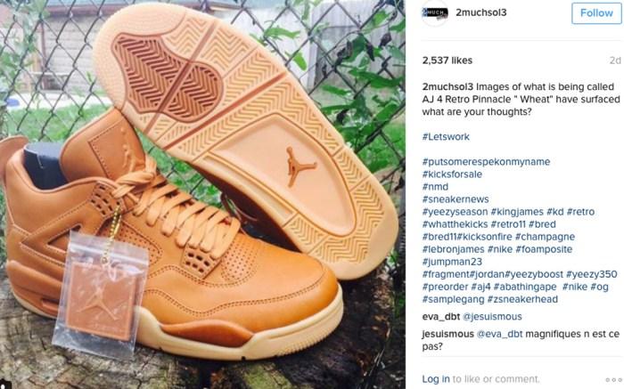 Air Jordan 4 Wheat Instagram