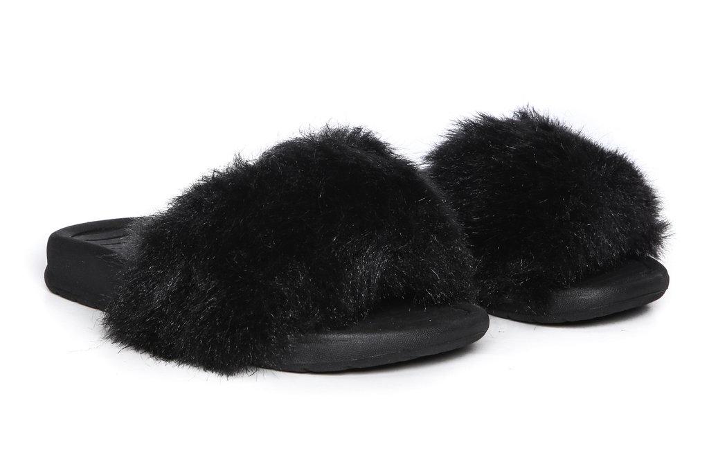 Akid Faux Fur Kids Slides