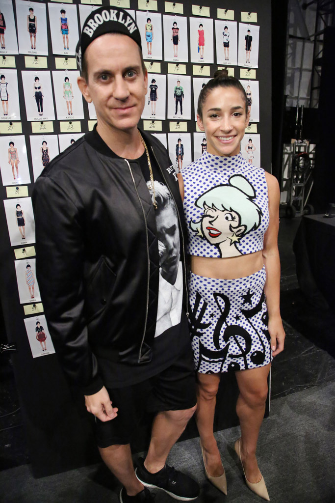 Aly Raisman Jeremy Scott Fashion Show