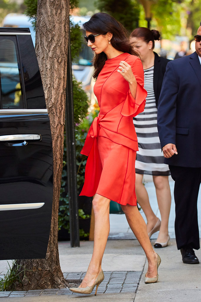 Amal Clooney UN General Assembly NYC Fashion