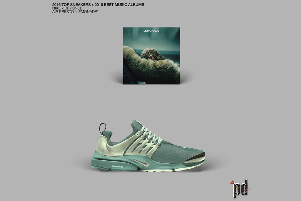 2016 Top Sneakers x 2016 Top Albums by Patso Dimitrov