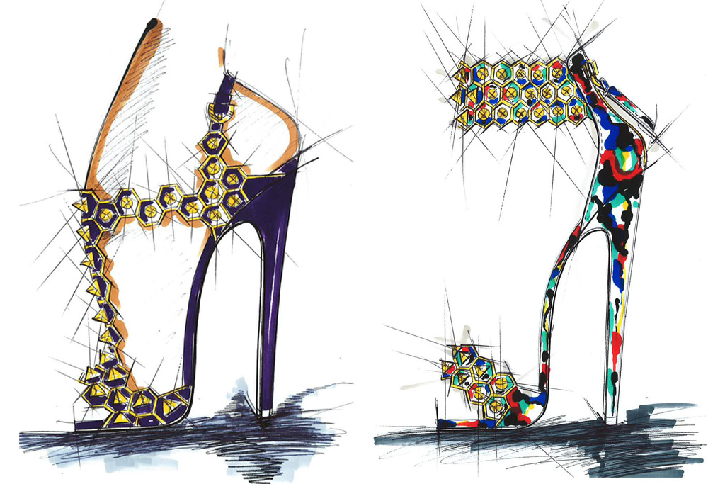 Brian Atwood Spring 2017 Sketches
