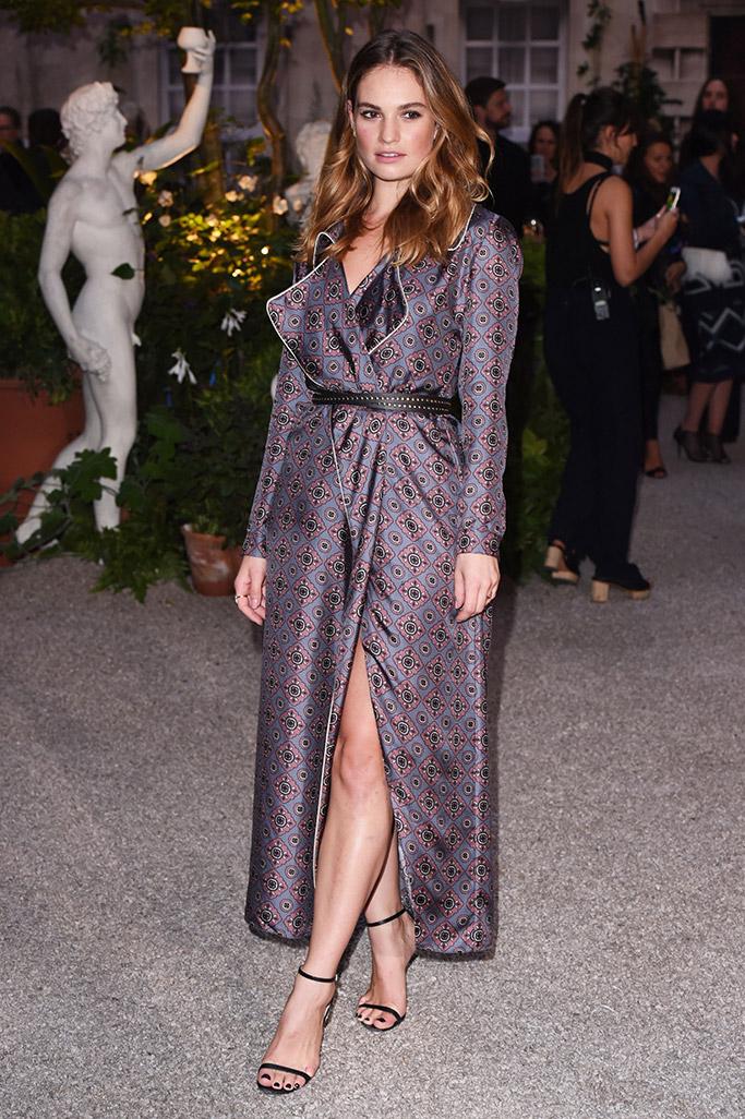 Lily James Burberry London Fashion Week