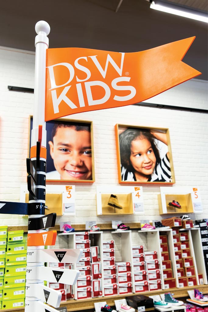 The DSW Kids section, which started rolling out to stores for back-to-school.