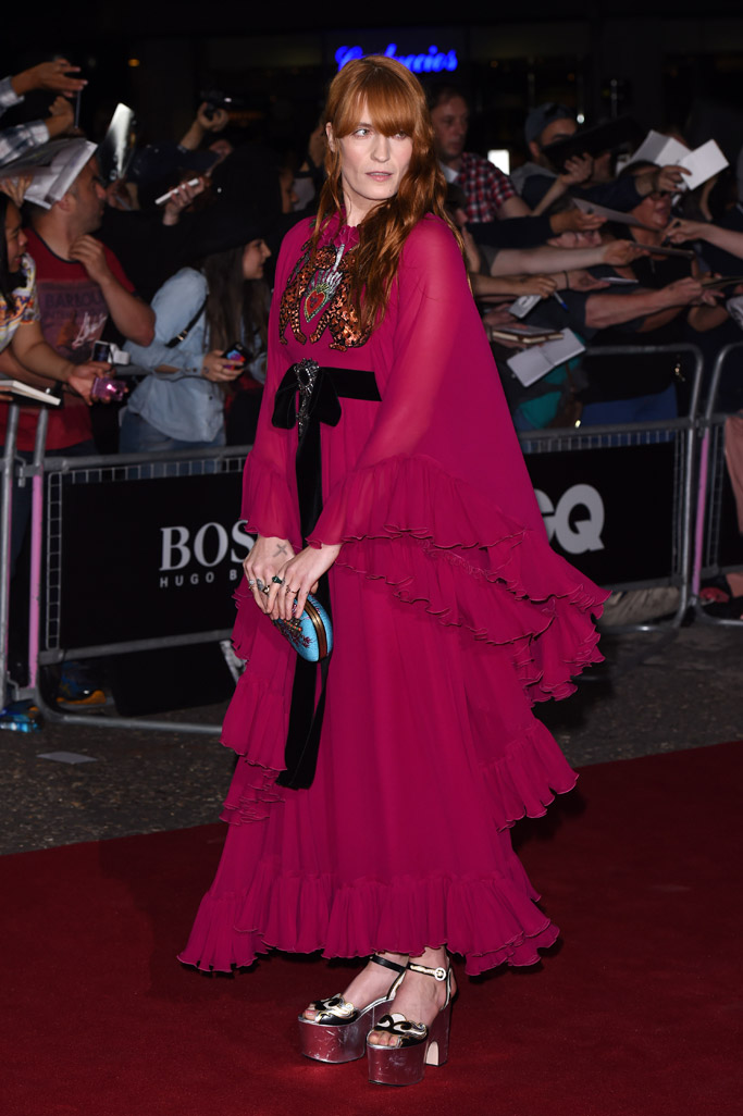 Florence Welch Celebrity Statement Shoes September 2016