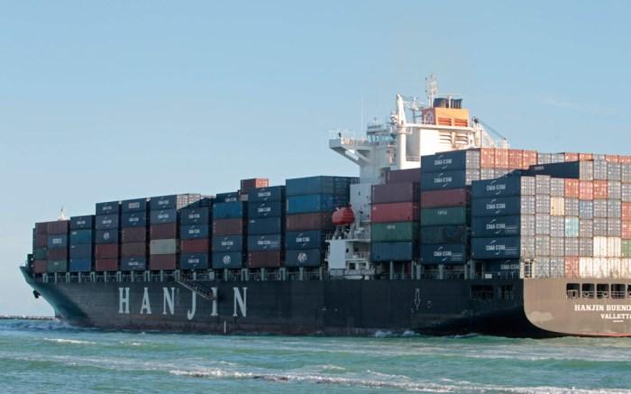 A Hanjin carrier.