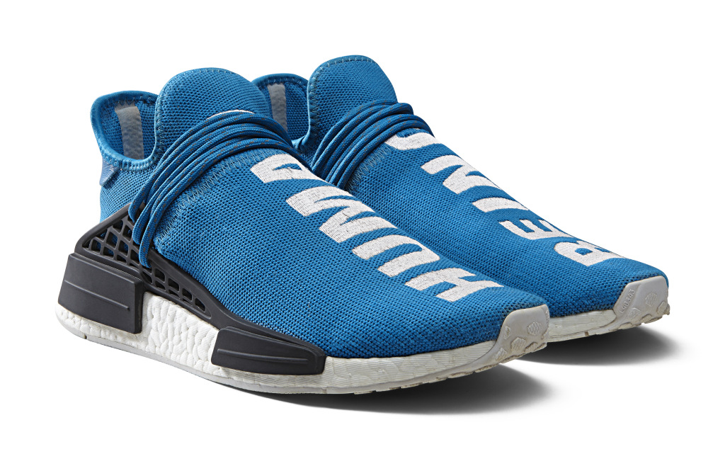 Limited-edition Adidas NMD sneakers from Pharrell Williams' collaboration with Adidas.