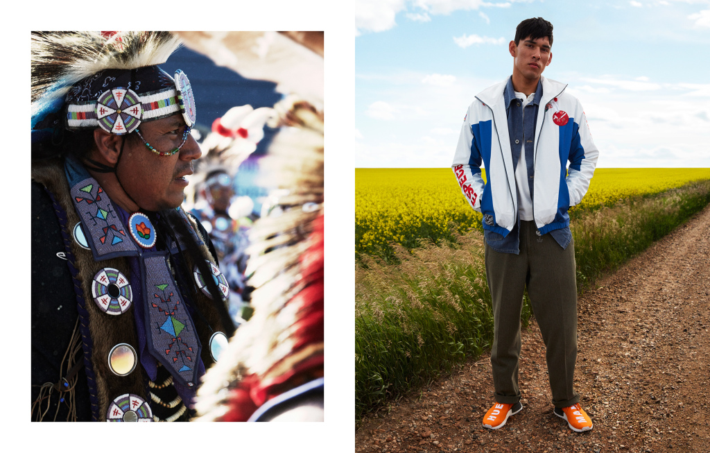 The campaign for Hu, Pharrell Williams' collaboration with Adidas.