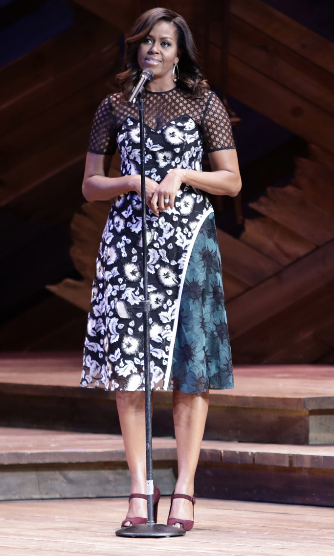 Michelle Obama Broadway Let Girls Learn