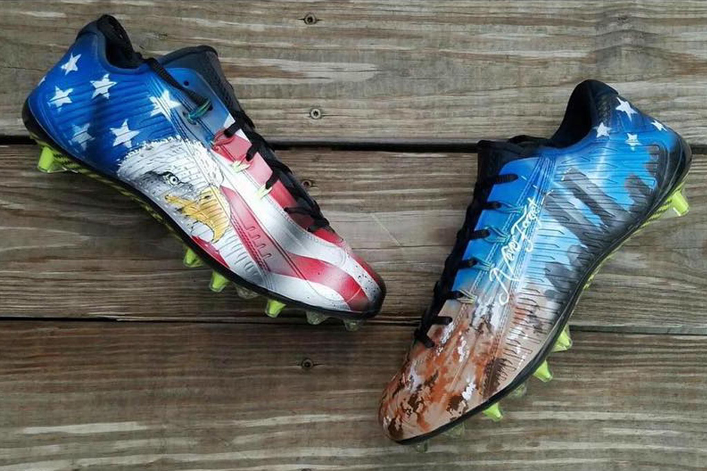 Mohamed Sanu's Custom Nike Cleats