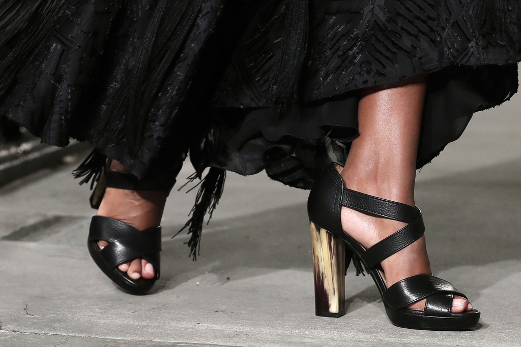 Ralph Lauren September Collection shoes on the runway.