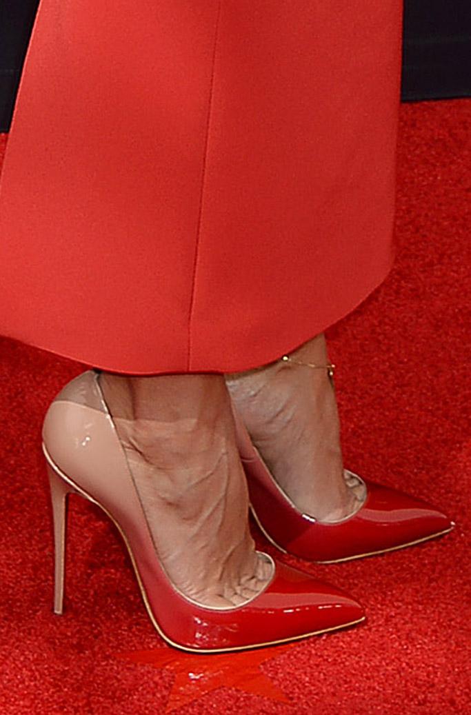 Renee Bargh emmy primetime christian louboutin red carpet