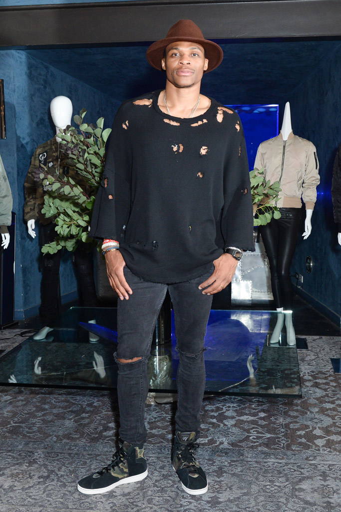 Russell Westbrook New York Fashion Week Style