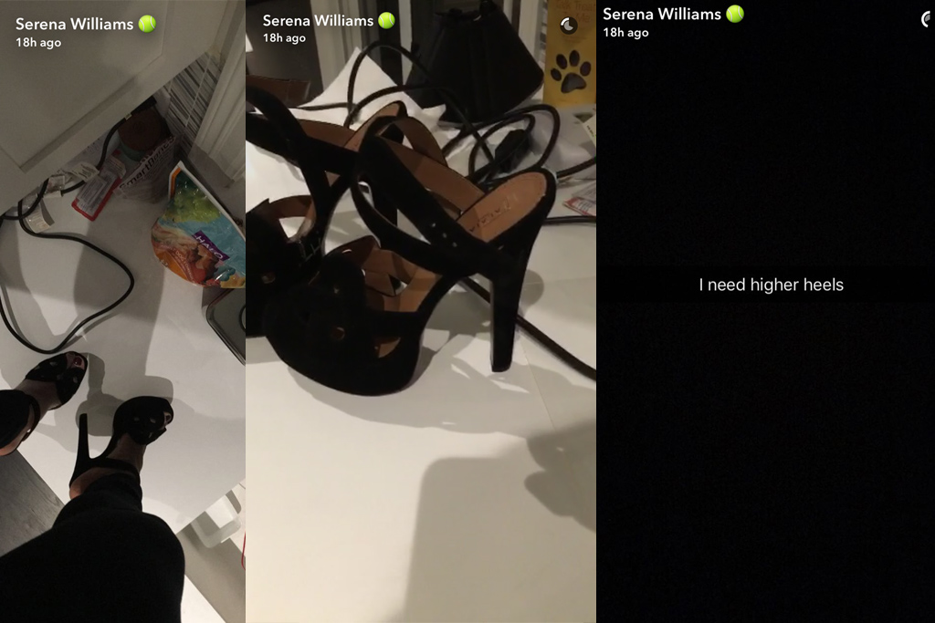 Serena Williams Alaia Platforms Snapchat