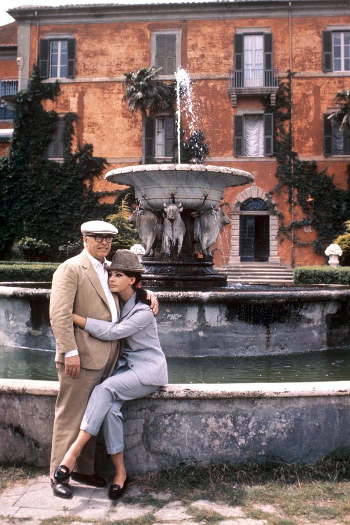 1965: Loren with husband Carlo Ponti.