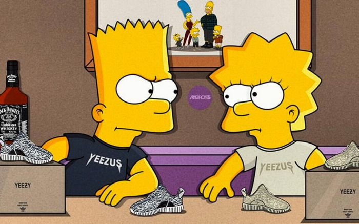 Yeezys Simpsons Illustrations