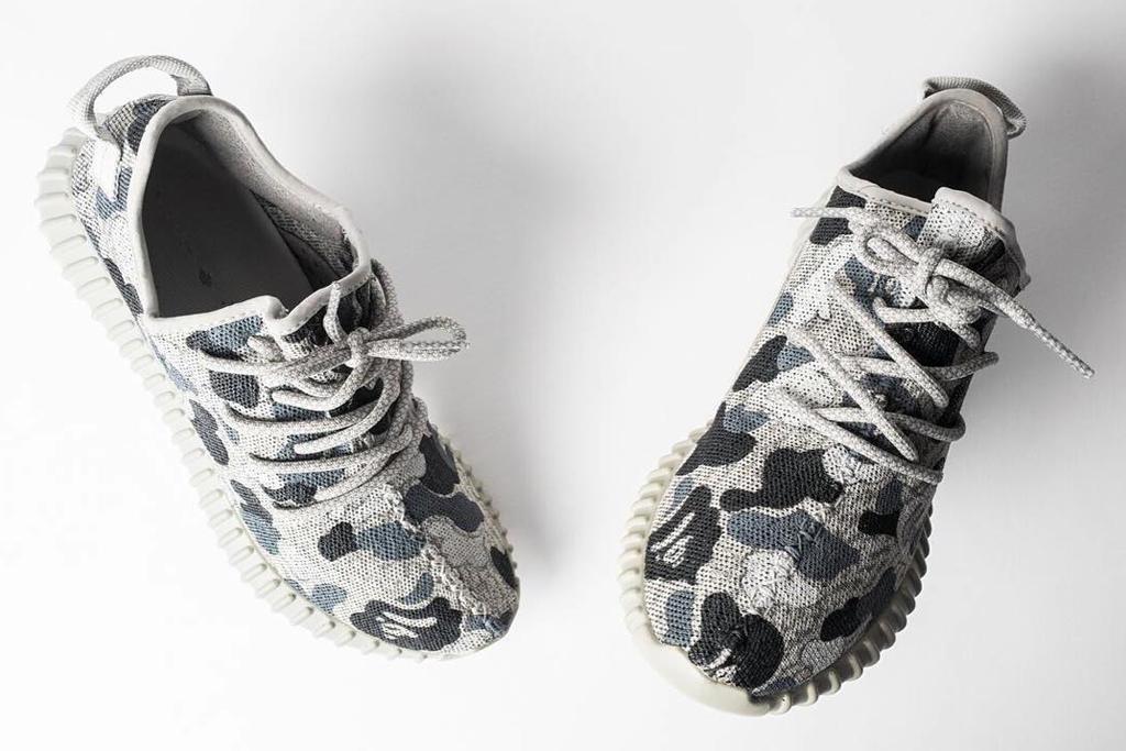 A Bathing Ape x Adidas Yeezy Boost 350 Custom Sneakers