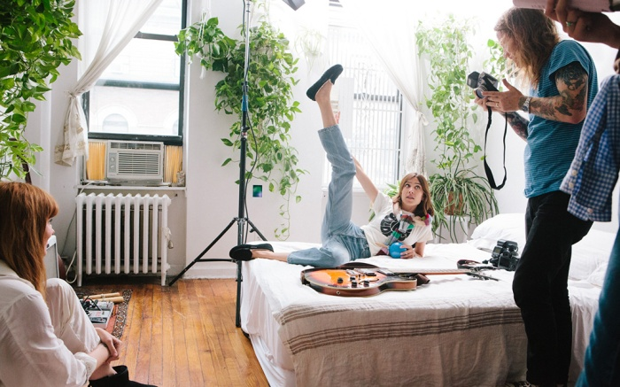 Outtake from the new UGG campaign art directed by Alexa Chung