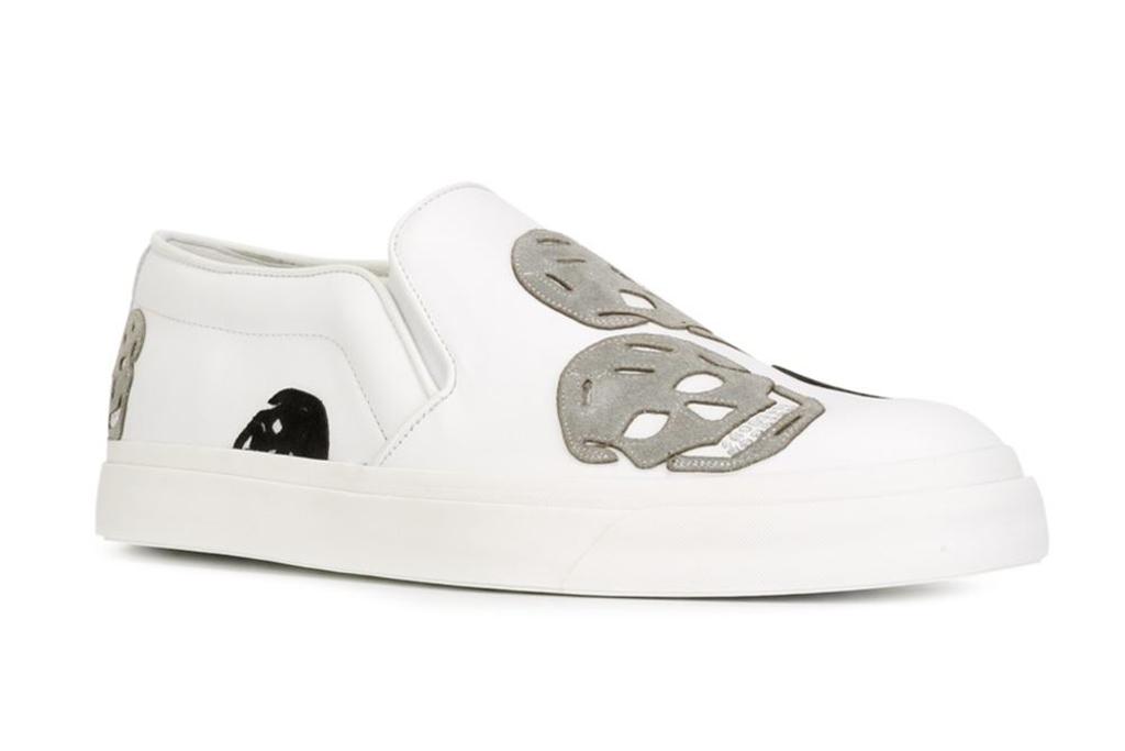 Alexander McQueen Mens Skull Sneakers